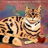 House Cat Illustration