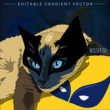 Cats superheroes. Wolverine