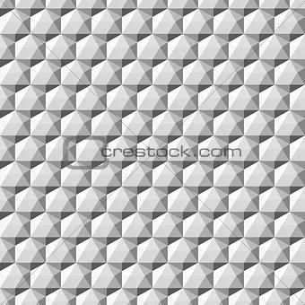 Gray geometric 3d shapes - seamless.