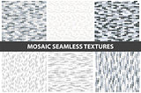 Collection of brick wall seamless textures.
