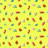 Vector abstract mosaic seamless memphis pattern.