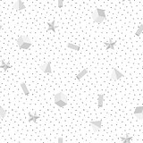Abstract monochrome memphis seamless pattern.