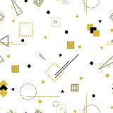 Vector geometric seamless memphis pattern.