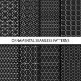 Ornamental seamless patterns - dark design.