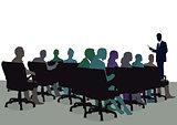 Training seminar, informing