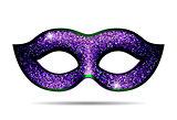 Violet shining carnival mask
