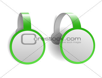 Green advertising wobblers