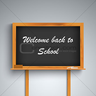 Back to school on black board template