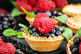 Tartlets with berries