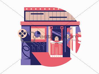 Cinema flat concept