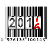 New Year 2017 counter, barcode, vector illustration.
