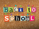 Back to School Ransom Note Illustration