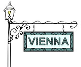 Vienna retro vintage lamppost pointer.