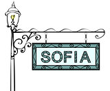 Sofia retro vintage lamppost pointer.