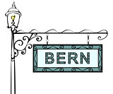 Bern retro pointer lamppost.