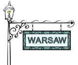 Warsaw retro pointer lamppost.