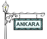Ankara retro pointer lamppost.