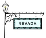 Nevada retro pointer lamppost.