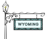 Wyoming retro pointer lamppost.