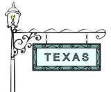 Texas retro pointer lamppost.