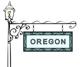 Oregon retro pointer lamppost.
