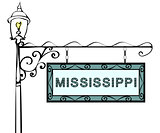 Mississippi retro pointer lamppost.