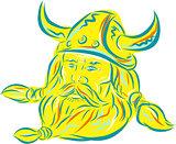 Norseman Viking Beard Etching