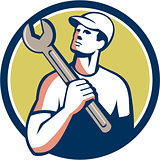 Tradesman Mechanic Spanner Circle Retro
