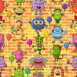 Cartoon Monsters Seamless