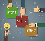 bitmap step  timeline infographic scheme in flat design