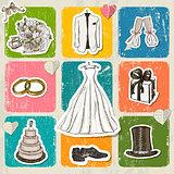 Vintage wedding poster.