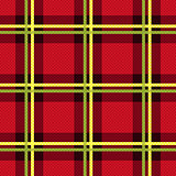 Rectangular seamless fabric pattern mainly in red