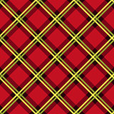 Diagonal seamless fabric pattern mainly in red