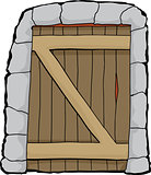 Dungeon doorway illustration over white