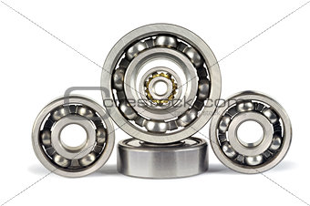 Five ball bearings