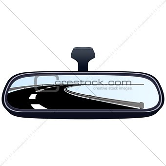 Car mirror and the road-1