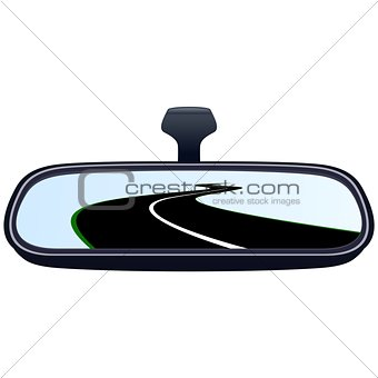 Car mirror and the road-3