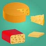 Set. Pieces of cheese