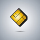 SIM card, vector illustration.