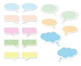 Set of bubbles for speech vector