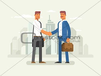 Business partners flat design