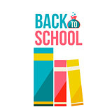 Back to school poster with row of books