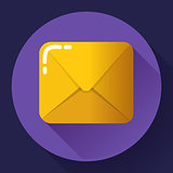 Small parcel package, letter or mail flat icon