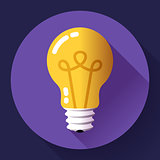 Creative idea in light bulb shape as inspiration concept. Flat icon.