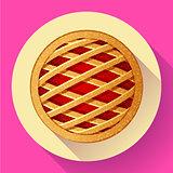 Apple Pie vector icon Flat designed style