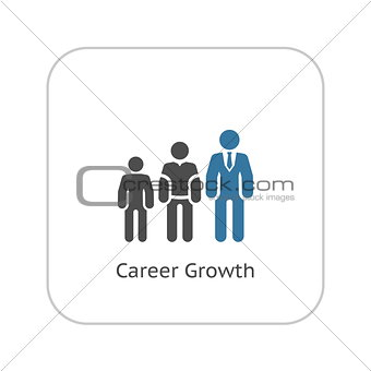 Career Growth Icon. Flat Design.