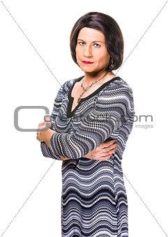 Skeptical or Angry Hispanic Transgender Woman