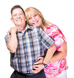 Smiling Transgender Man and Woman Posing Close Together