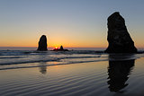 Sunset at Cannon Beach Oregon