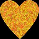 Grunge vector heart